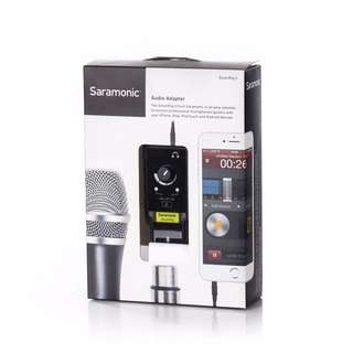 "Saramonic SmartRig II XLR Mic & 1/4"" Guitar Adapter with Phantom Power Preamp for Smartphones"