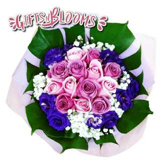 Fresh Flower Bouquet Surprise for Special Anniversary Birthday Gift V119 - HHXNO