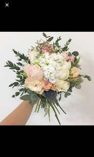 Bridal Bouquet in Rustic Paste Theme