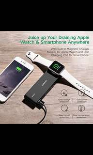 Ugreen Wireless Power Bank Charger with USB Charging for Apple Watch
