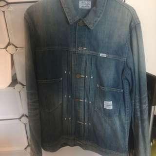 Neighborhood denim jacket size L 99%new