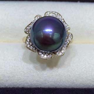 14K金12一13mm愛迪生濃郁紫戒指,一見傾心的美物😍