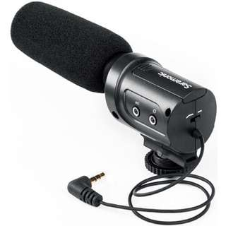 Saramonic SR-M3 Mini Directional Condenser Microphone with Integrated Shockmount