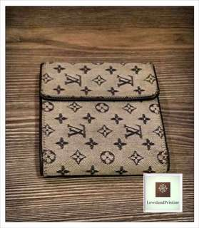 Louis Vuitton Navy Monogram Mini Lin Compact Wallet