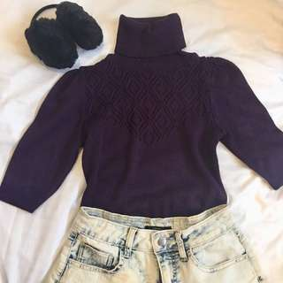 SALE❗️Purple Knitted Top