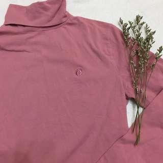 tumblr pink turtleneck pullover