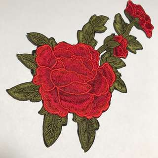Iron On Embroidery flower 🌸 patch.