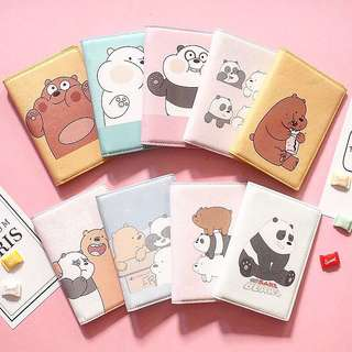 🐻 WE BARE BEARS PASSPORT COVERS!!! 🐻