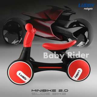 2018 ADVANCE LUDDY MINIBIKE Balance Bike Sliding Bike Walker - RED