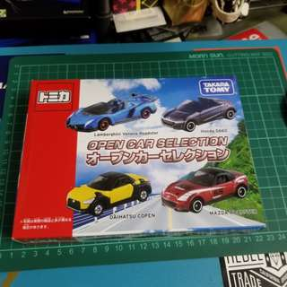 Tomica Open Car Selection Boxset