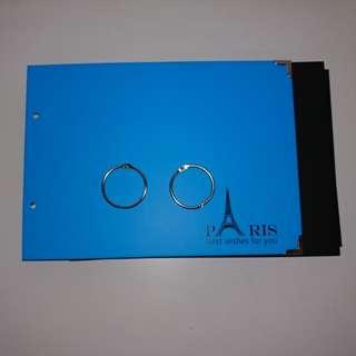 Blue Scrap book