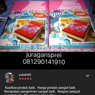 SPREI KING SIZE KINTAKUN MY LITTLE PONY 180x200 No1