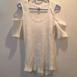 H&M White Off Shoulder Stretchable