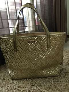 Tote bag Gold Kate Spade Original