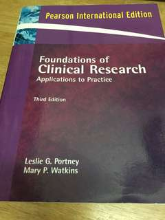 Foundation of Clinical Research : Application to Practice