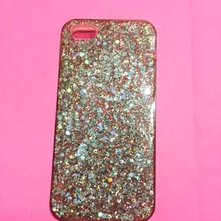 Iphone 5 Glittered Jelly Case