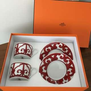 Hermès coffee cup set