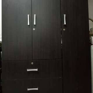 Multi-functional Wooden Cabinet w/ 3 doors & 2 drawers