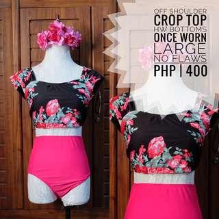 Croptop HW Summwear Swimsuit