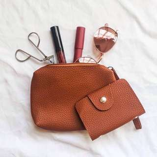 Make Up Pouch with free card holder
