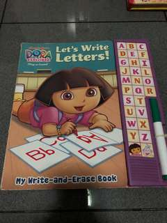 Dora Learn to Write Book, write and erase