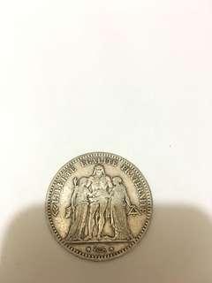 1875 大力神 銀幣