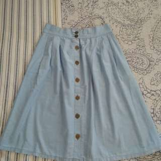 Cheeky blue skirt