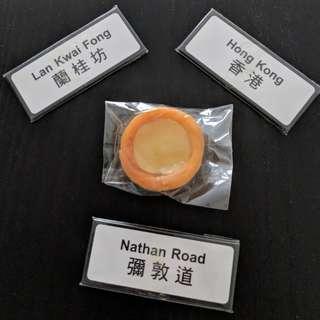 New Hong Kong Road Name, Egg Tart Magnets from HK