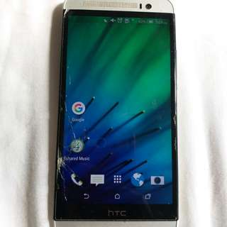 HTC screen break but still work very well and faster, camera very good,no charger