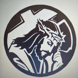Jesus Christ cross Sticker decal