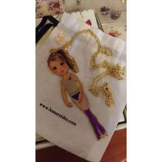 法國購入正版Les Nereides芭蕾女孩項鍊