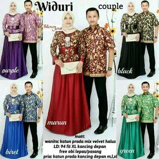 Setelan Batik widuri Couple kebaya modern