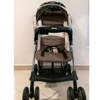 Jeep Brand Sporty Stroller Free Stand- 1 Hand Fold