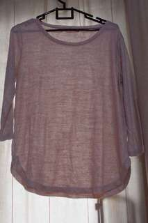 Stradivarius Pink Glittery T-Shirt