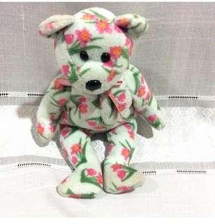 Floral Beanie Bear Plush