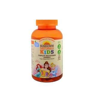 代購美國空運 Disney 迪士尼 公主系列 兒童綜合維他命軟糖 軟糖 180顆 有葡萄、柳橙、櫻桃口味【buy貨公司】