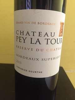 Chateau pey la tour reserve du chateau Bordeaux superieur 2015