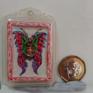 Butterfly amulet. Not from Kruba Krissana. With khun paen face in the middle.