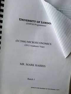 UOL 2012 Econs Notes