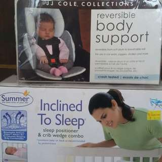 Newborn sleep positioner and JJ Colebody support