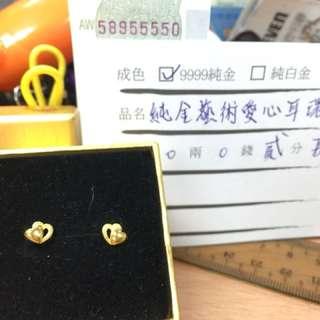 黃金耳環0.24錢