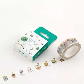 [PO] Potted succulent washi tape