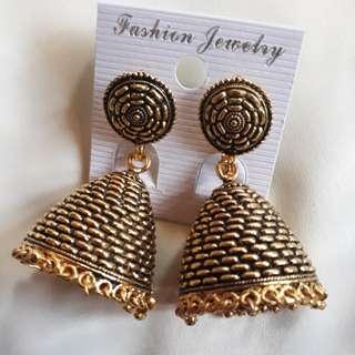 Hindi Jhumka Earrings