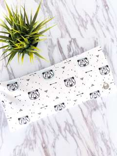 Geometric Bear 🐻 Baby Beansprout Husk Pillow