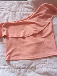 FREE SHIPPING One sided blush top