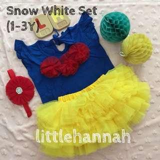 ⭐️Instock - Baby Toddler Snow White Tutu Set (newborn - 9Y)