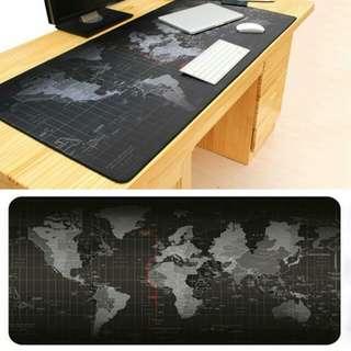 Mouse pad gaming peta dunia (ukuran 30x80 cm)