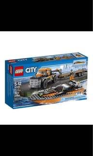 全新停產絕版 Lego city 60085 4x4 with power boat