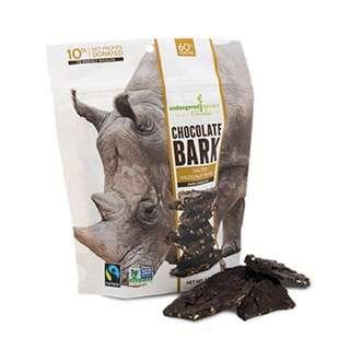代購空運進口食品公平貿易Endangered Species Chocolate 60%黑巧克力鹽榛子太妃糖 獨立包裝