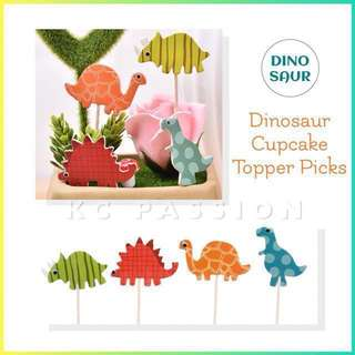 🦕 24pcs DINOSAUR CUPCAKE TOPPER PICKS  Decoration for Baby Shower • Baby Full Month • Baptism • Birthday • Themed Party Event •